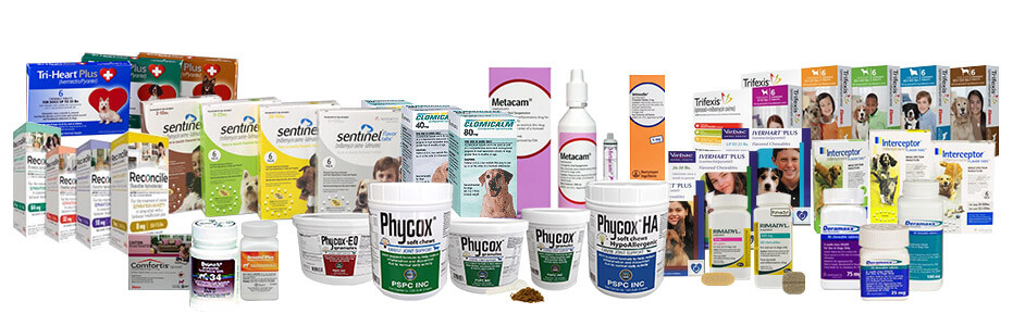 A variety of pet-related products